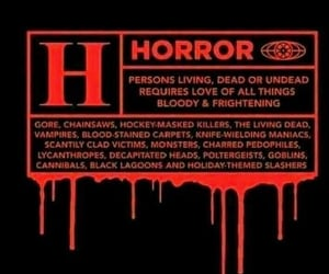 horror and vintage image