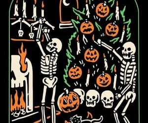 Halloween, skeleton, and spooky image