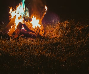 aesthetic, fire aesthetic, and campfire image