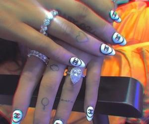 nails, ariana, and grande image