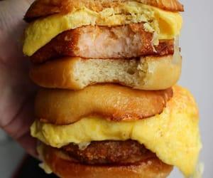 burger, scrambled egg, and katsu image