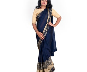 saree, traditional wear, and indian cloth image