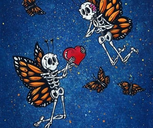 butterflies, winged, and art image
