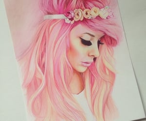 art, drawing, and color pencil art image