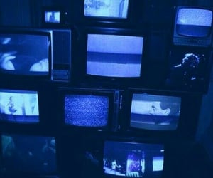 blue, tv, and cyber image