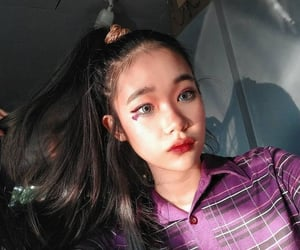 asian, purplecore, and blue contacts image