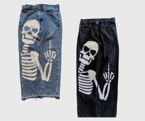 alternative, clothes, and skeleton image