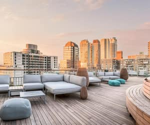 manhattan, nyc, and rooftop image