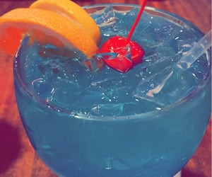 alcohol, food, and blue aesthetic image