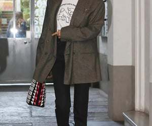 street style, everyday look, and plaid blazer image