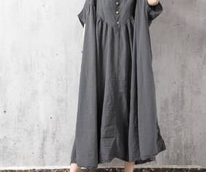 gown, boho maxi dress, and loose fitting dress image