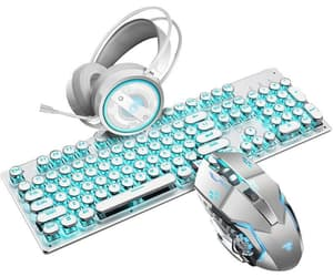 keyboard, mouse, and steam machinery image