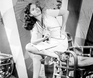 40s, actress, and black and white image