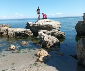 france, mer, and plage image