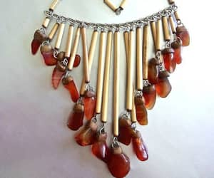 etsy, bib necklace, and summer jewelry image