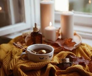 autumn, tea, and candle image
