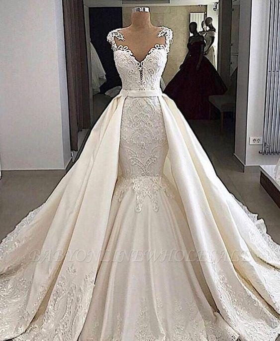wedding dresses, wedding gown, and white wedding dress image