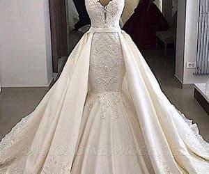 wedding dresses, white wedding dress, and wedding gown image