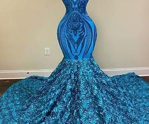 cocktail dress, robe de soirée, and blue evening dress image