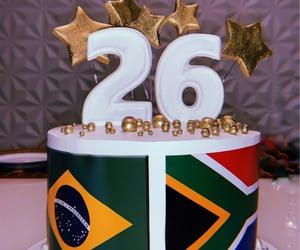 birthday, flags, and birthday cake image