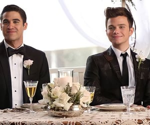 couples, glee, and darren criss image