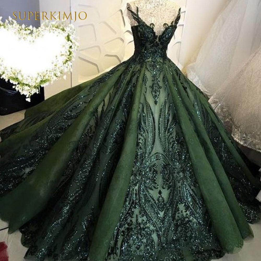 dark green, robe de mariage, and green prom dress image