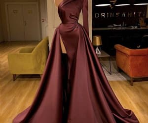 satin dress, prom gown, and elegant prom dresses image
