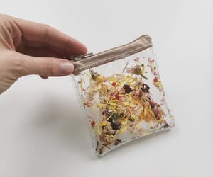 pocket wallet, for sister, and beige small purse image