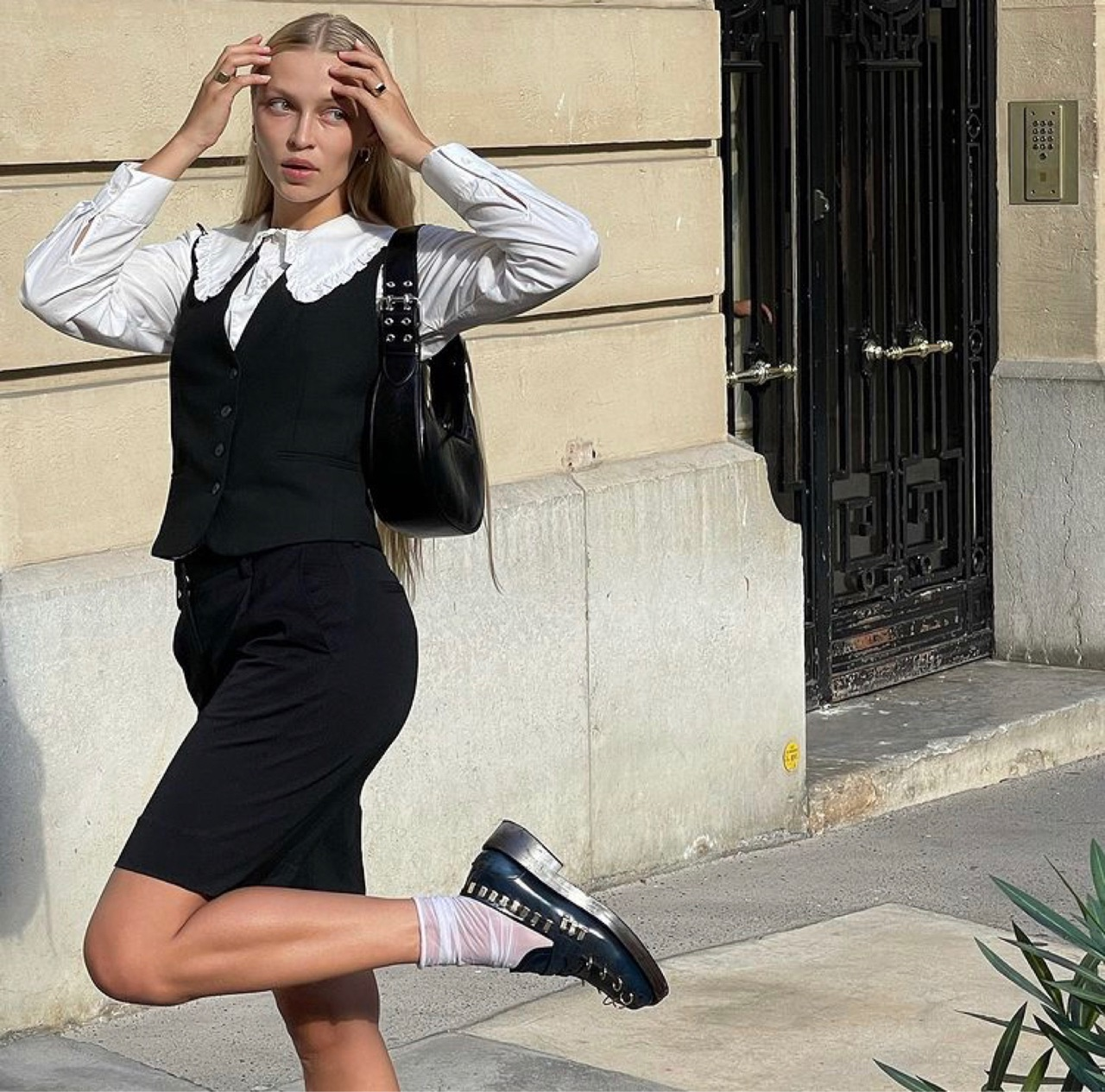 button up shirt, paris france, and street style image