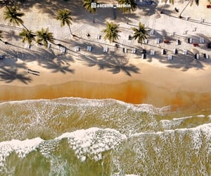aerial photography, beach, and sand image