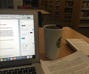 library, notes, and school image