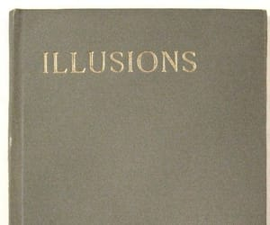 illusion, book, and vintage image