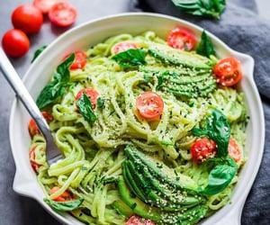 food, pasta, and avocado image