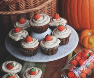cupcake, pumpkin, and autumn image