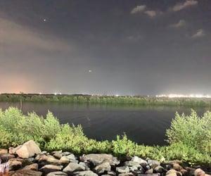 bright, coast, and evening image