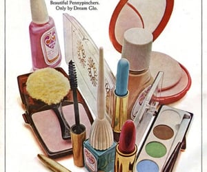 ad, makeup, and 1960s image
