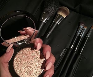Brushes, gold, and beauty image