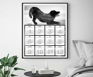 etsy, christmas gift, and wall calendar image
