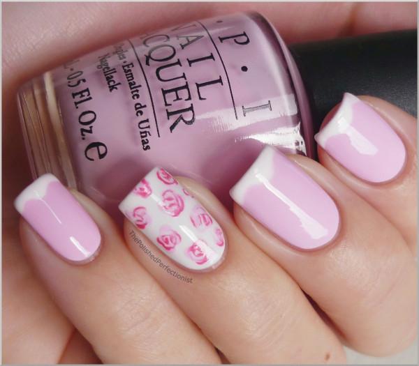 Nail Polish Nails Pink Roses
