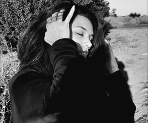 blackandwhite, brunette, and photo image