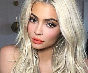 blonde hair, kylie jenner, and hair image