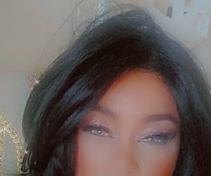 eye makeup, glitter, and lady image