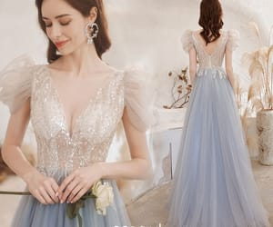 a-line, scoop neck, and backless image