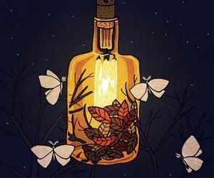 autumn, bottle, and illustration image