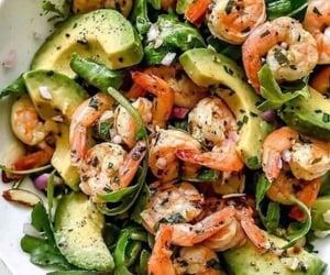 food, shrimp, and avocado image