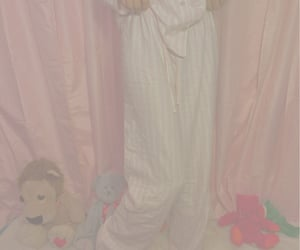 pink, stuffies, and pjs image