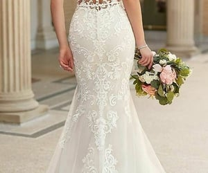 dress, lace, and robe image