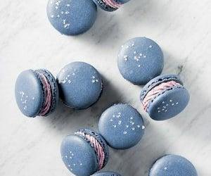 food, blue, and dessert image
