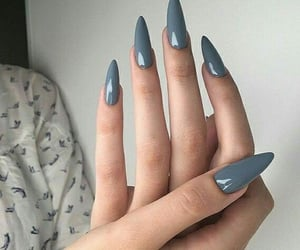 fashion, girl style, and nails blue image