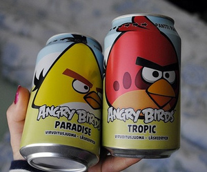 angry birds, drink, and bird image